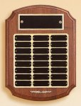 American Walnut Ornate Perpetual Plaque Achievement Awards