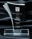 Sand Piper Clear Award Corporate Acrylic Awards