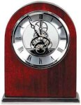 Rosewood Piano Finish Arch Clock Desk Clocks