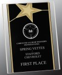 Gold Star Acrylic Stand-Up Employee Awards