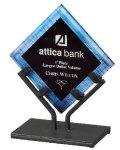 Acrylic Art Galaxy Award - Blue Employee Awards