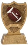 Plastic Sport Shield Football Award Figure on a Base Trophies