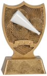 Plastic Sport Shield Cheer Award Figure on a Base Trophies