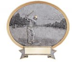 Legend Golf Oval Award Oval Resin Trophy Awards