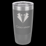 Dark Gray Stainless Steel Ringneck Double Wall Insulated Travel Mug Promotional Mugs
