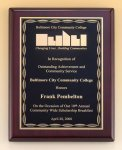 Rosewood Piano Finish Plaque with Brass Plate Sales Awards