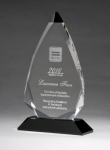 Arrow Series Crystal Award with Black Accent Sales Awards
