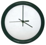 Round Clock with Black Frame Wall Clocks